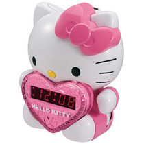 Radio Reloj Despertador Con Proyector Hello Kitty - Lbf