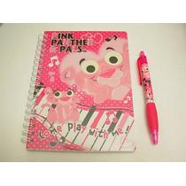 Lote De Cuaderno Y Lapicero D Pink Panther Baby Pantera