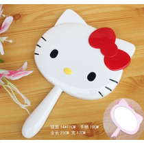 Espejo De Mano De Hello Kitty En Dos Colores A Escoger