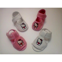 Zapatos De Bebe De Hello Kitty Bordado