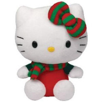 Hello Kitty Navidad-navideña Peluche-muñeca