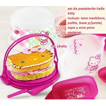 Hello Kitty, Set De Mini Pastelerita, Taza Medidora, Palita