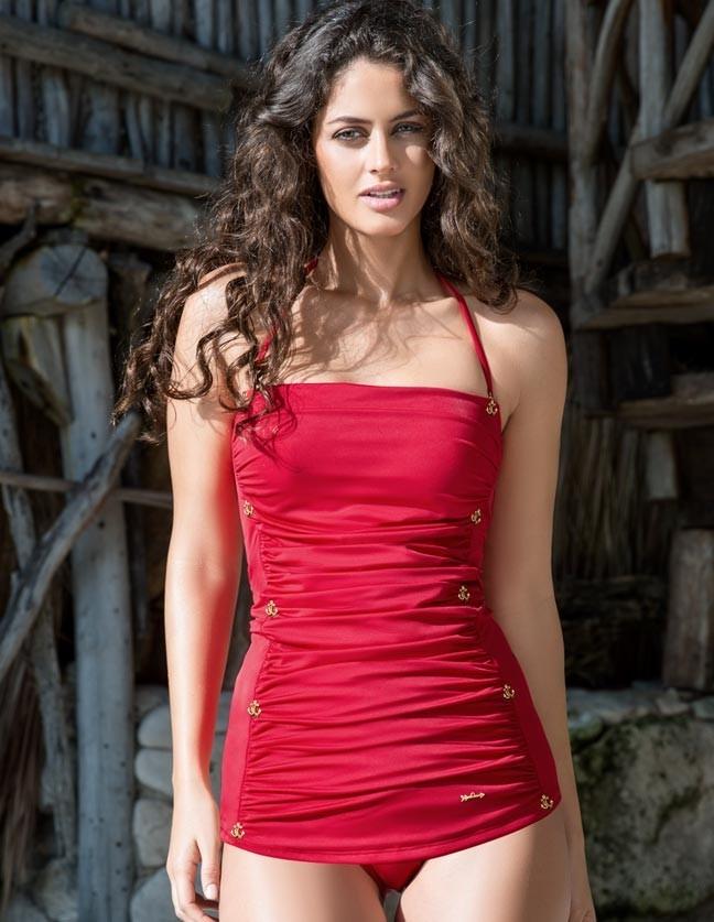 Traje de ba o rojo andrea for Ganchos para trajes de bano