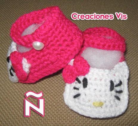 Hermosos Zapatitos De Conejito Bebé Tejidos A Mano Crochet ...