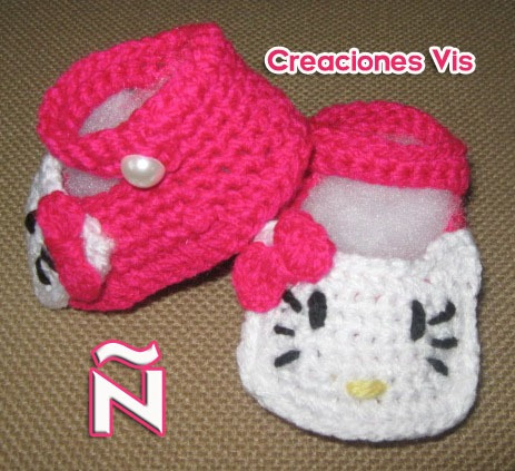 Pantuflas tejidas crochet para niña - Imagui