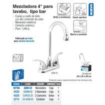 Mezcladora P/lavabo De 4 Tipo Bar Aero