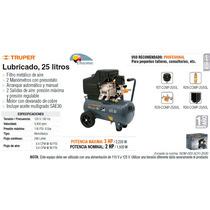 Compresor Lubricado 25 Litros 2 Hp Prof. Truper Dizome