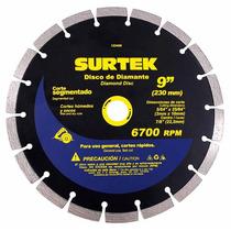 Discos De Diamante Segmentados Surtek 123468 Disco De 9 Hm4