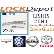 Ganzua Smart Lishi Nissan,cerrajero Cerrajeria Decodificador