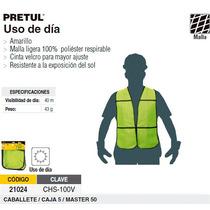 Chaleco De Seguridad Uso De Dia Amarillo