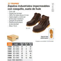 Zapato Industrial Cafe Con Casquillo No. 25