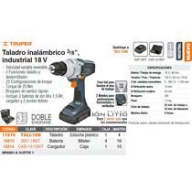 Taladro Inalambrico 18v 1/2 Industrial