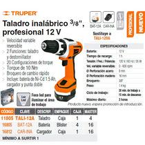 Taladro Inalambrico 12v 3/8 Profesional