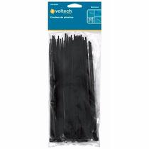 25 Cinchos De Plastico Negros De 35 Cm 50 Lb Voltech 44329