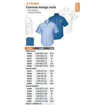 Camisa Azul Manga Corta Extra-extra-grande