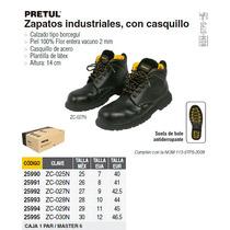 Zapato Negro Con Casco 29
