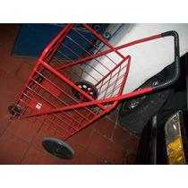 Gcg Carrito Mandado Plegadizo Metal Color Rojo Vmj