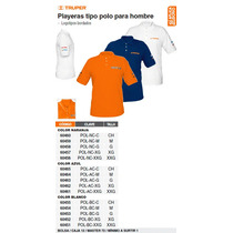 Playera Polo Blanca Caballero G Bordada