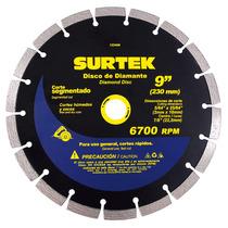 Disco De Diamante Corte Segmentado 9in 123468 Surtek