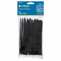 50 Cinchos De Plastico Negros De 15 Cm 40 Lb Voltech 44323