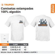 Camiseta 100% Algodon Estampada Talla 42