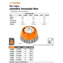 Carda Copa Alambre Trenzado Fino 4 Milimetrica P/esmeril