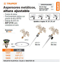Aspersor Metalico De Zinc Cabeza Sola