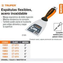 Espatula Flexible 4 Acero Inoxidable