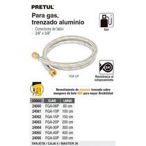 Manguera Flexible Aluminio P/ Gas 3/8 X 150 Cm