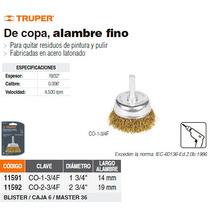 Carda De Copa Alambre Fino 2-3/4 Para Taladro