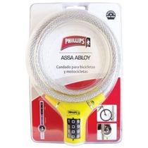 Cable Candado De Combinación Amarillo Phillips