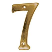Número Decorativo #7 Latón Antiguo Dexter