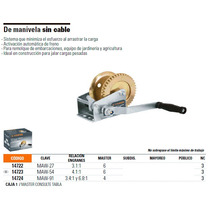 Malacate De Manivela Sin Cable. Truper