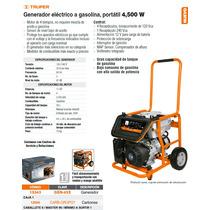 Generador Electrico A Gasolina 4500 W