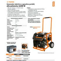 Generador Electrico A Gasolina 8000 W