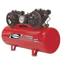 Oferta Compresor 20 Hp Trifasico 1000 L 175 Psi Marca Evans