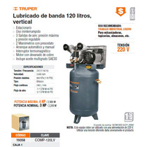 Compresor De Aire Lubricado 3hp De 120l Vertical