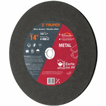Disco Abrasivo Corte De Metal 14 Pulgadas Truper 11558