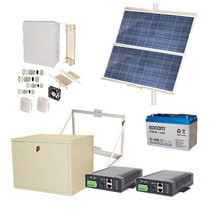 Kit De Energia Solar 24 W/12 Vcd/24 Vcd Poe Autonomia 30 Hrs