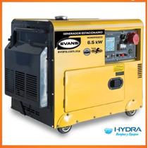 Generador Trifásico De 5.5kw Con Motor Thunder 10hp