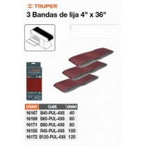 Bandas Grano 120, Para Lijadora Pul 4x6, Caja Con 3 Pzas