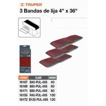 Bandas Grano 60, Para Lijadora Pul 4x6, Caja Con 3 Pzas