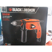 Taladro Percutor 550w, Black & Decker, Linea Pro