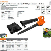 Sopladora / Aspiradora Electrica Con Bolsa Truper 18146