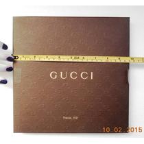 Gucci Caja Cuadro Original P/diversos 25 Cm. X 25 Cm.x 5 Cm