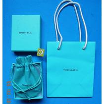 Cajita Original Tiffany & Co.c/ Bolsita Tela Y De Asa Ok.