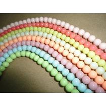 Oferta! 10 Hilos De Bola Candy Gloss Colores Pastel 6mm Sp0