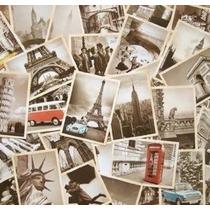 Outop 32 Pcs Viajes 1 Conjunto Retro Postales Antiguas Para