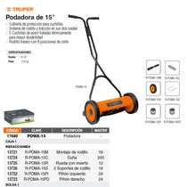 Montaje Completo De Rodillo Para Podadora Manual