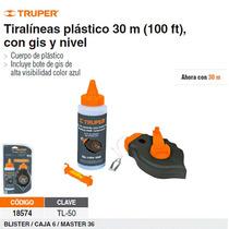 Tiralineas 15m. Cuerpo De Plastico Y Nivel Incluye Gis